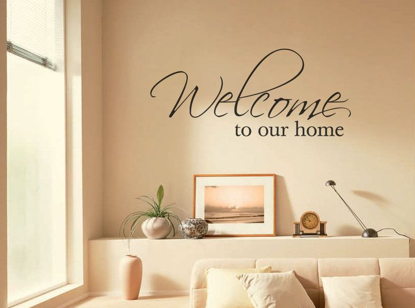 Wall Art Sticker Welcome To Our Home Wall Art Quote